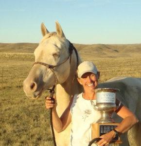 Horsemanship trophy at the Vigilante Appaloosa Club Judged Trail ride 2010